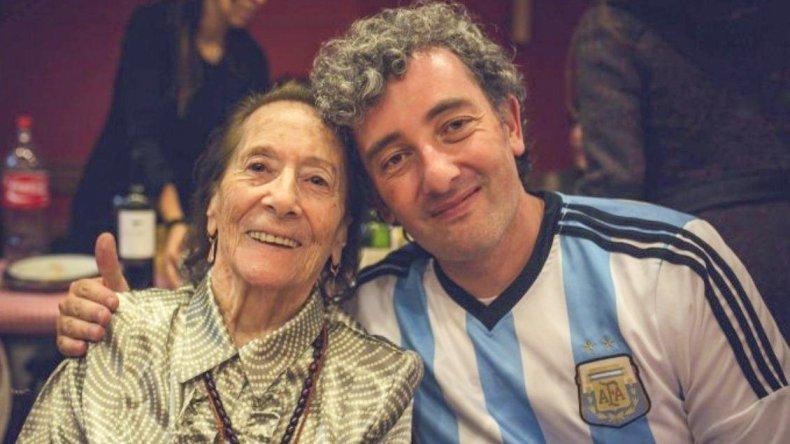 Ignacio Montoya Carlotto vino a Caleta  para despedir a su abuela Hortensia
