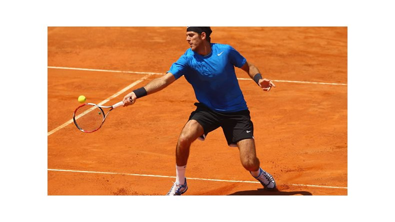 Del Potro no juega en polvo de ladrillo desde el Masters 1000 de Roma 2013.