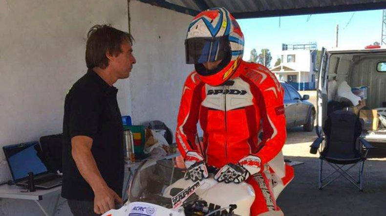 Federico Zapata probó durante dos días en Río Cuarto con vistas a la segunda fecha del Super Bike Argentino.