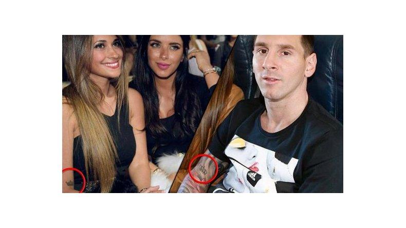 El tatuaje que comparten Messi y su mujer