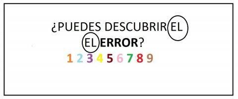 ¿Puedes descubrir el error en menos de cinco segundos?