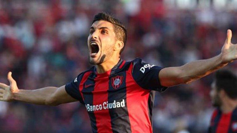 Nicolás Blandi anotó el gol de la victoria frente a Huracán.