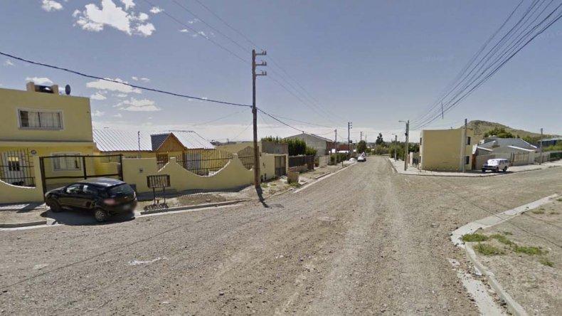 La zona de Norma Vosila al 200 en el barrio Castelli