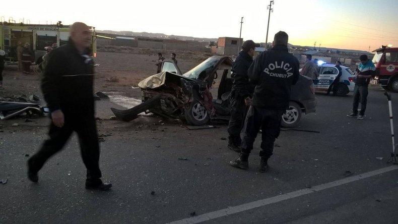 Murió un hombre en choque frontal en el ingreso a km 8