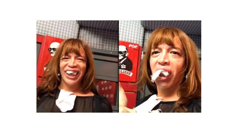 La nueva dentadura de Lizy Tagliani