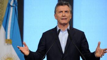 Mauricio Macri en conferencia de prensa. Como es habitual, muchas generalidades y ningún anuncio concreto.