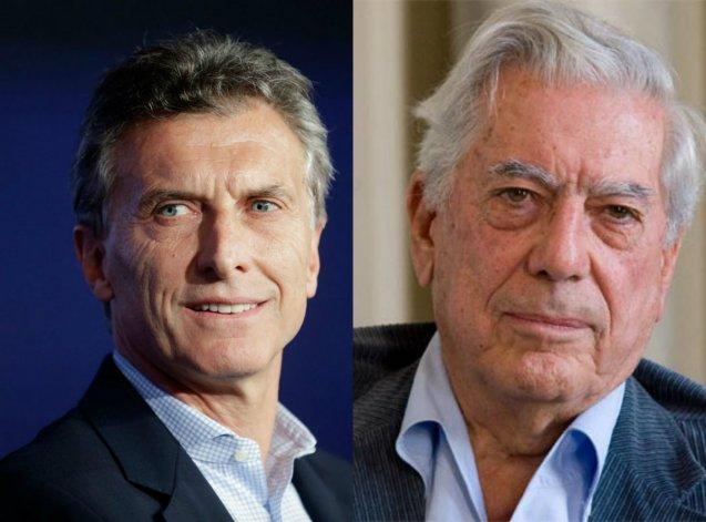 Macri recibirá  hoy a Vargas Llosa