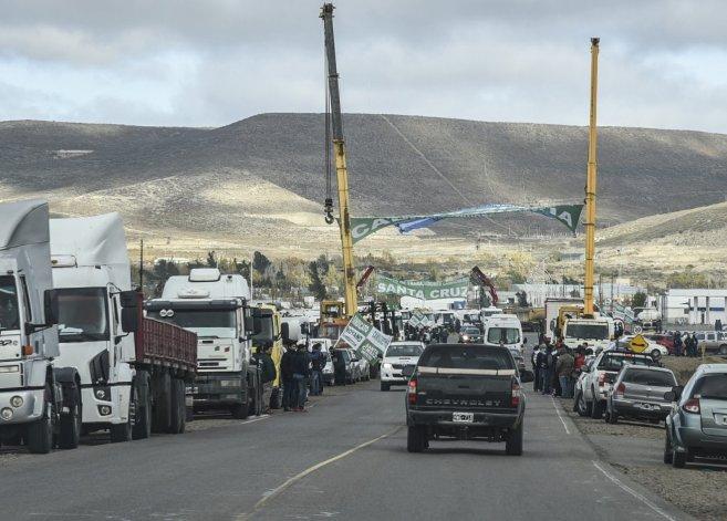Gran adhesión de camioneros
