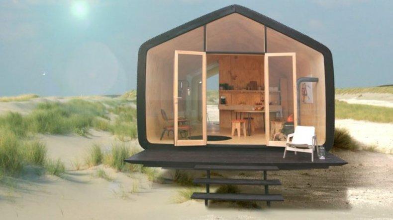 ¿Cómo es la primera casa hecha de cartón corrugado?