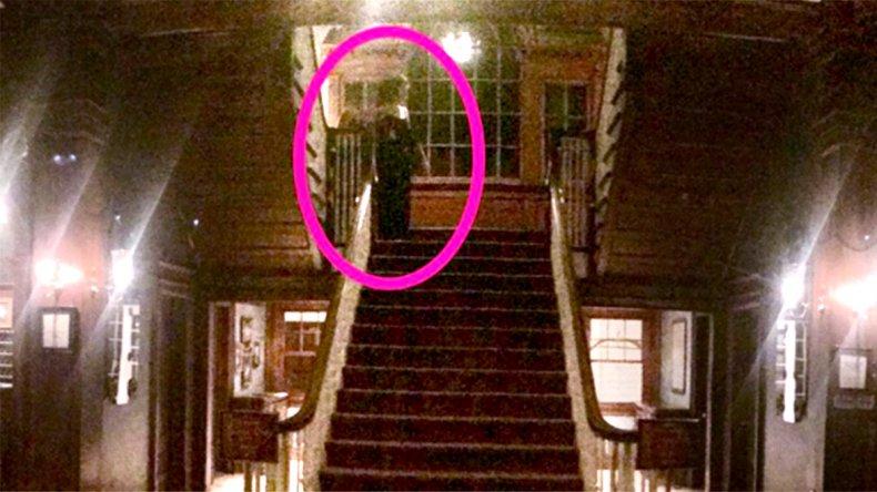 La foto que fue tomada recientemente donde se puede observar una figura que muchos creen que es un fantasma.