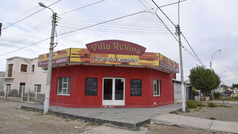 La casa de comidas que fue asaltada por dos delincuentes