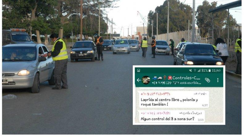 Crean grupos de whatsapp para evitar los controles de tránsito