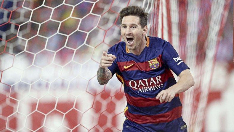 El crack Leo Messi que esta tarde irá por un nuevo título con el Barcelona de España.