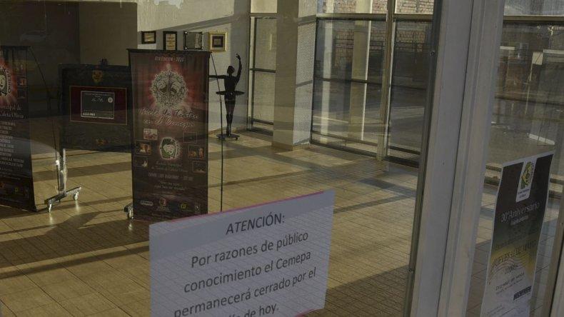 El Centro Municipal de Educación por el Arte es una de las reparticiones que a partir de ayer suspendió sus actividades luego de la visita de huelguistas.