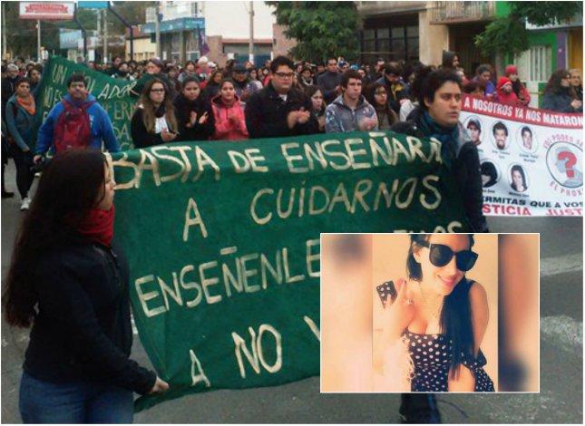 Más de mil personas marcharon  por el crimen de la joven universitaria