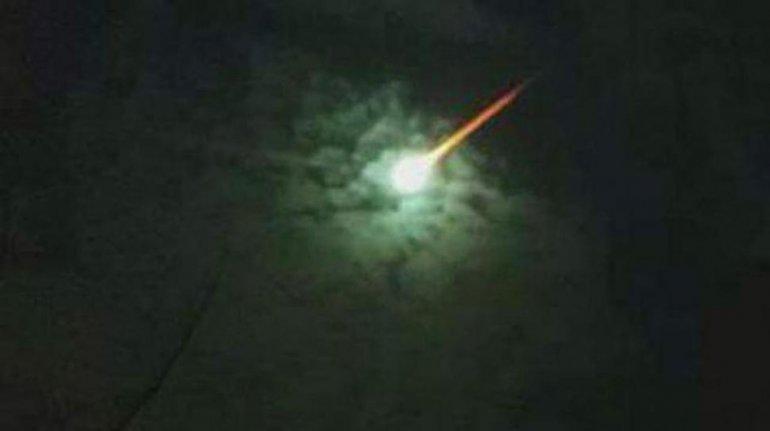 Cayó un objeto del cielo en Pinamar.