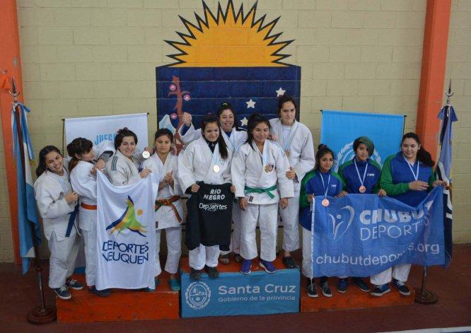 El judo femenino de Chubut obtuvo el tercer puesto.