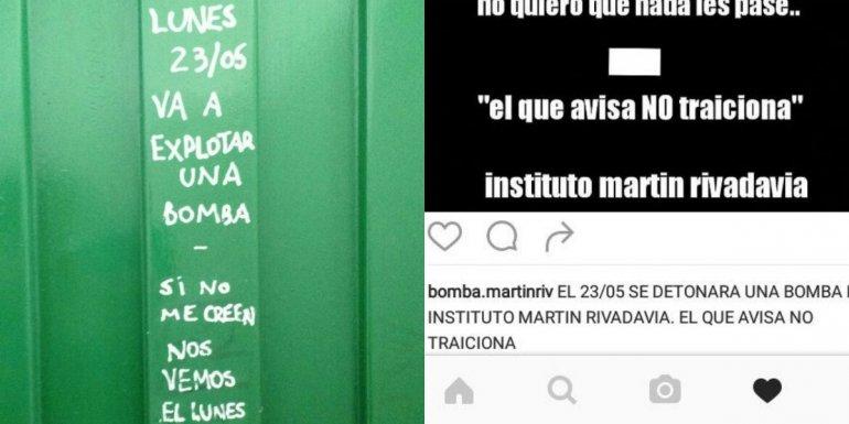 Amenaza de bomba en redes sociales terminó con una denuncia penal de una escuela