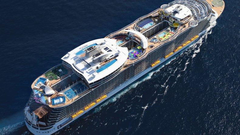 El crucero Harmony of the Seas con sus 361 metros de eslora