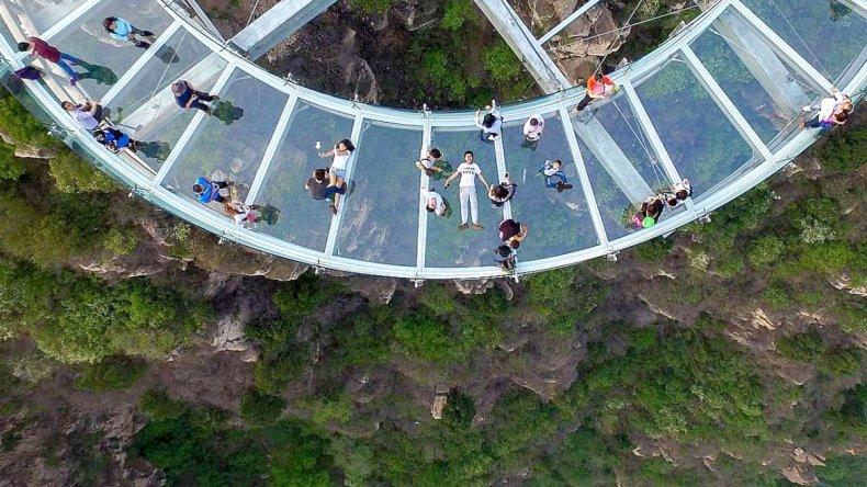 Esta alucinante obra de ingeniería china tiene una superficie de 415 metros cuadrados.