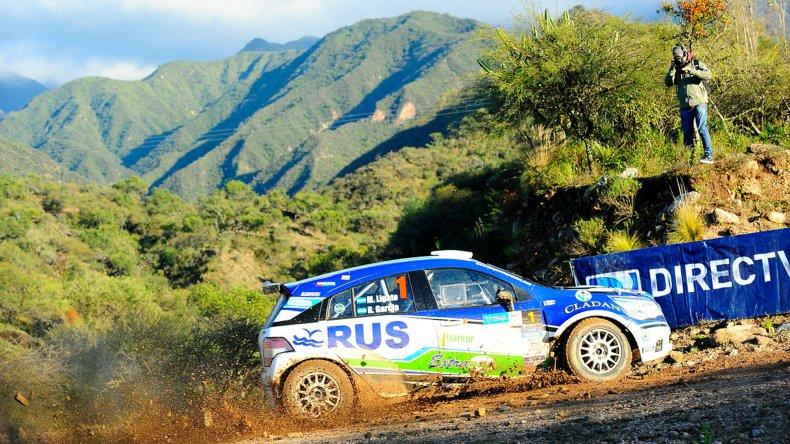Marcos Ligato durante un trayecto ayer en el Rally de La Rioja.