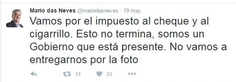 El gobernador Mario Das Neves optó por no criticar a Frigerio por twitter al ministro pero afirmó