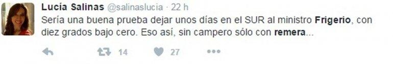 La periodista de Río Gallegos
