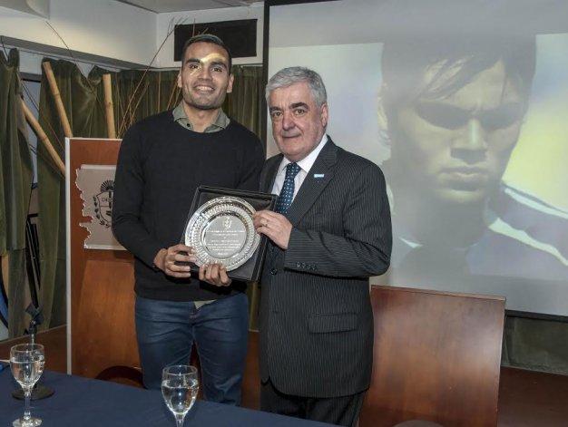 El madrynense Gabriel Mercado recibió un homenaje en Casa del Chubut