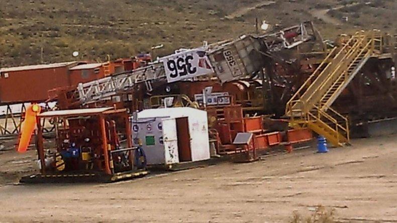El equipo de perforación N° 356 de San Antonio internacional se desmoronó en el yacimiento Cañadón La Escondida