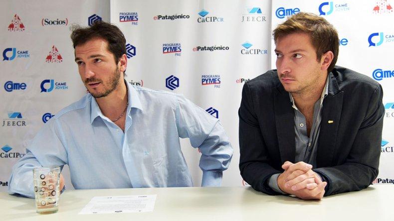 Alexis Tögel y Agustín Geldres anunciaron la realización de Emprender 2016.