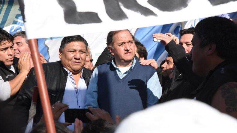 Carlos Linares como intendente de Comodoro Rivadavia y Jorge Avila como secretario general de Petroleros Privados Chubut