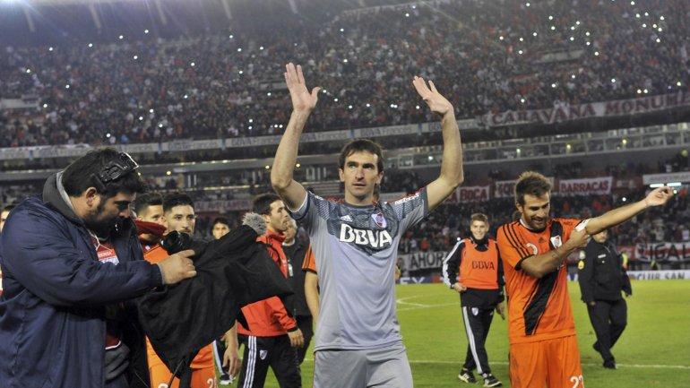 Marcelo Barovero el día que jugó su último partido con la camiseta de River.