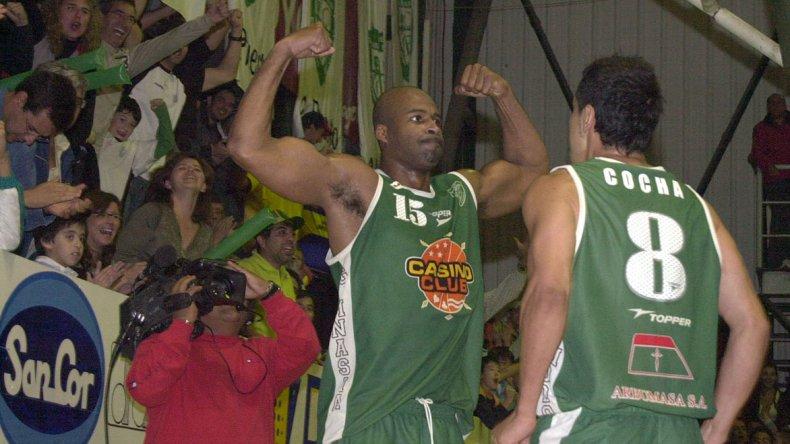 Ruperto Herrera y un festejo con Gaby Cocha.