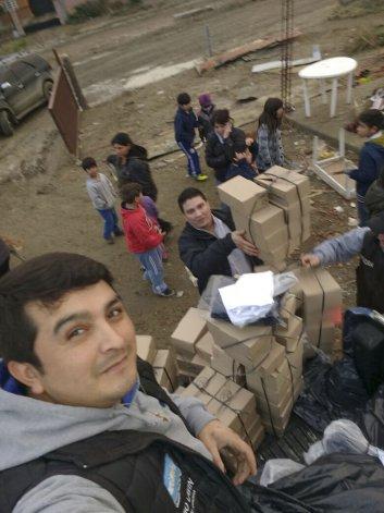 En Kilómetro 14 la UOCRA construye un merendero para los chicos del barrio