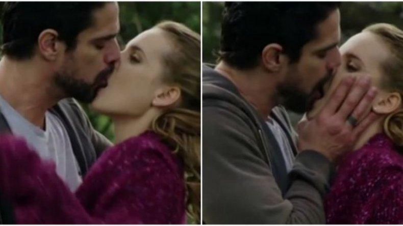 Romántico y sensual beso de Luciano Castro con Sabrina Garciarena en Los ricos no piden permiso