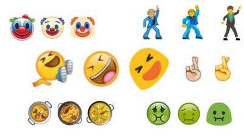 Los nuevos emojis de WhatsApp: paella, selfies y payasos
