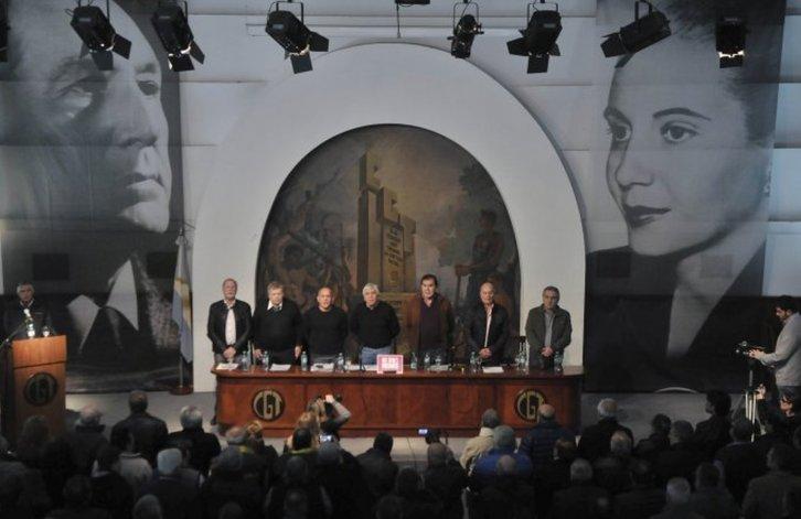 Moyano, Caló y Barrionuevo ratificaron la reunificación de la CGT