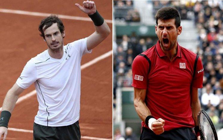 Andy Murray y Novak Djokovic irán mañana por el segundo Grand Slam de la temporada.