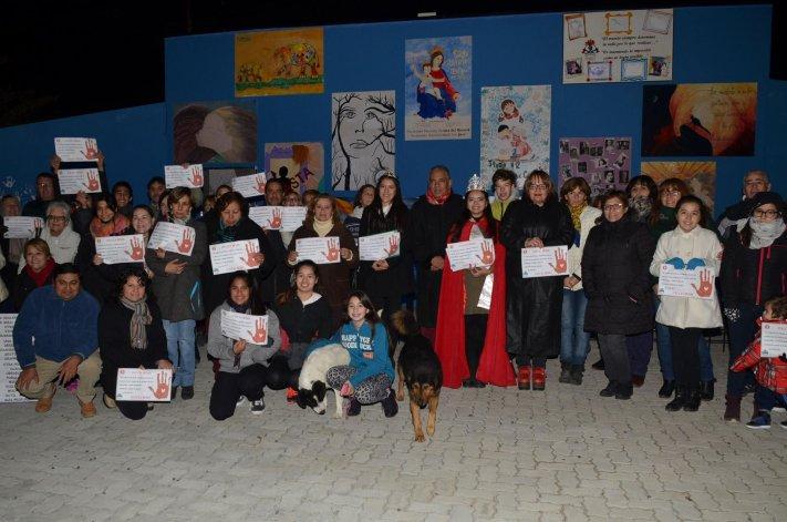 La comunidad de Cañadón Seco se sumó a la campaña nacional por Ni Una Menos