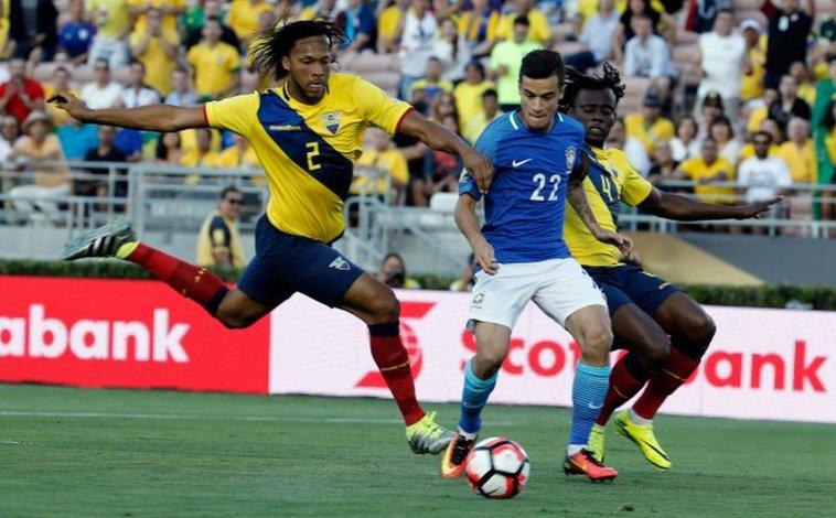 Brasil empató con Ecuador