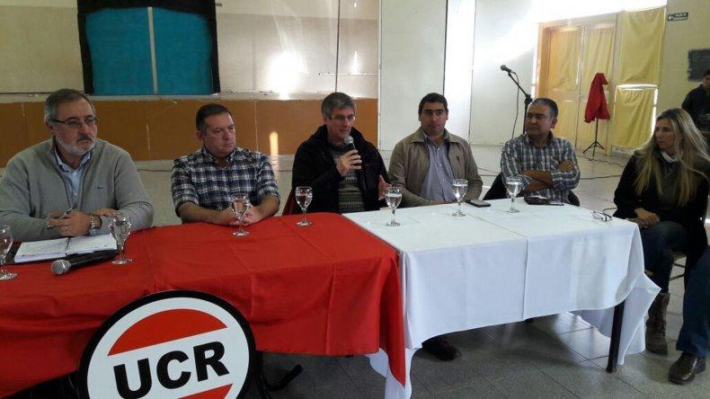 El Comité Provincia de la UCR se reunió el sábado en Gobernador Costa.