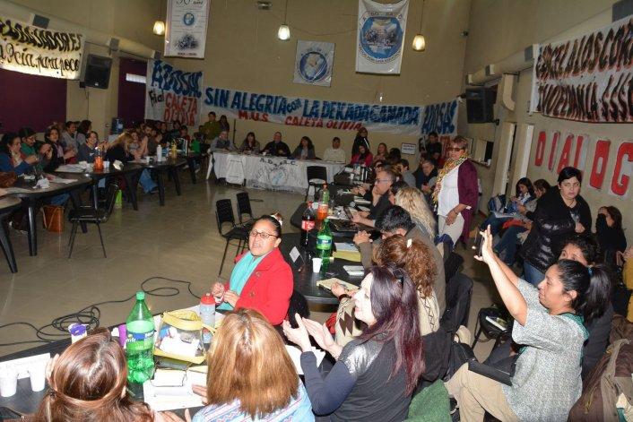 Los representantes de las distintas filiales de ADOSAC de la provincia
