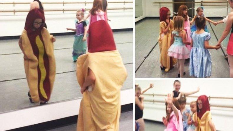 Era el Día de las Princesas y ella se disfrazó de pancho