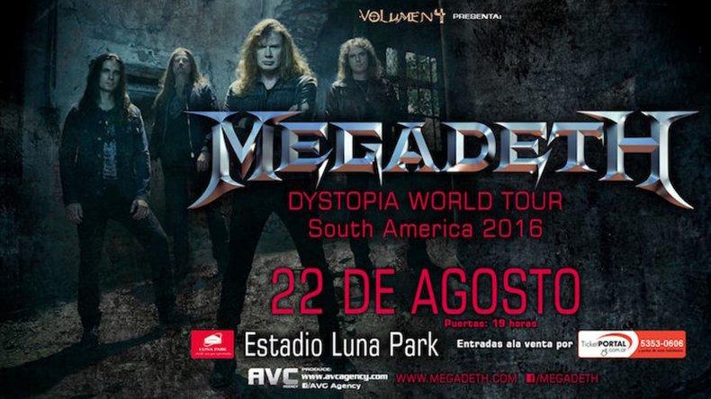 Megadeth vuelve a la Argentina para presentar su último disco.