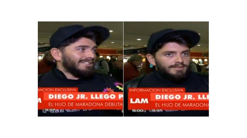 Diego Jr. llegó para sumarse al Bailando y habló de Maradona: Lo nombraré con otro nombre
