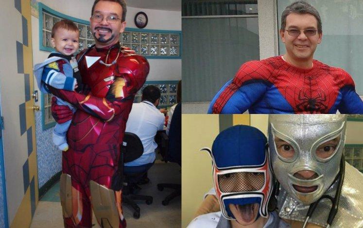 Un médico se disfraza de superhéroe para atender a los nenes con leucemia