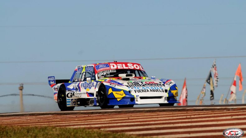 Marcelo Agrelo se metió entre los cinco primeros durante la primera clasificación del TC Pista.