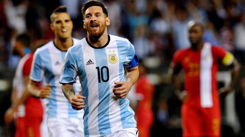 Lionel Messi festeja su gol