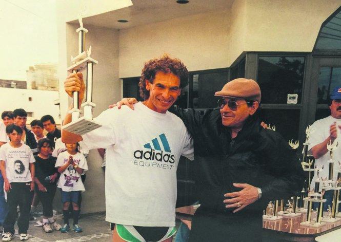 Alberto junto a Luis Rey