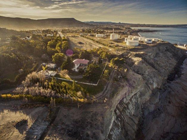 Una vista aérea del actual estado del Chalet Huergo.